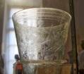 Pompei reperto bicchiere di vetro