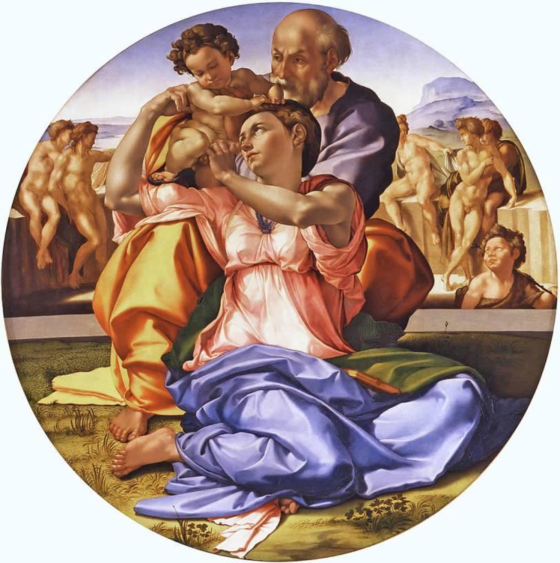 Il-Tondo-Doni-di-Michelangelo-Galleria-degli-Uffizi-Firenze
