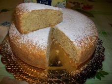 torta senza alla camomilla fetta